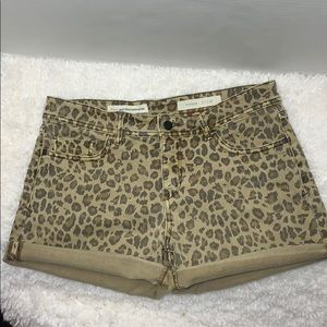 Pilcro and the Letter Press leopard shorts hyphen